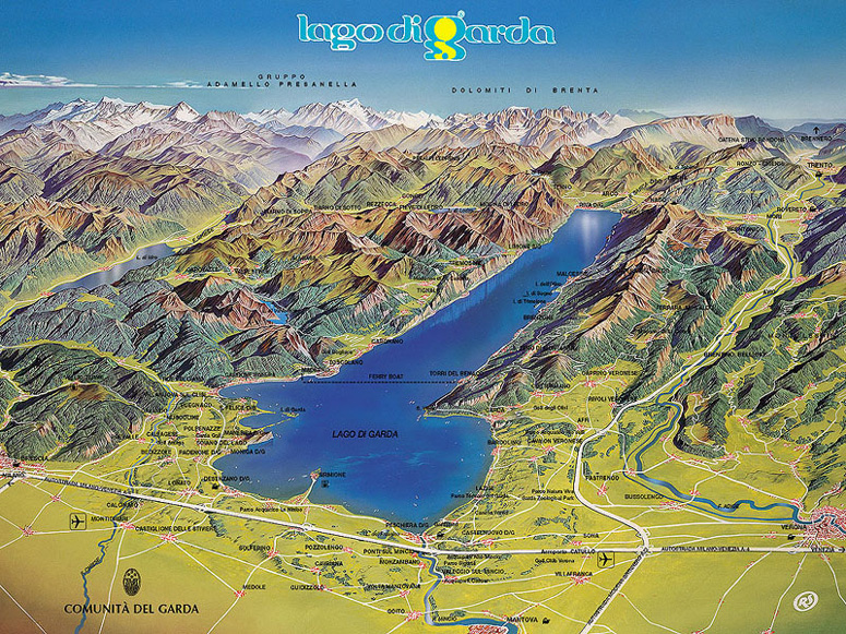 Map Of Lake Garda Garda) Swiss and Italian Lake Paddle Steamer Timetables. Latest  Map Of Lake Garda